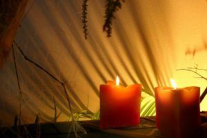 свечи для пикника очень красивы