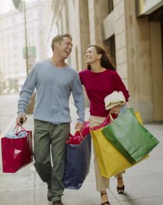 шопинг с мужчиной